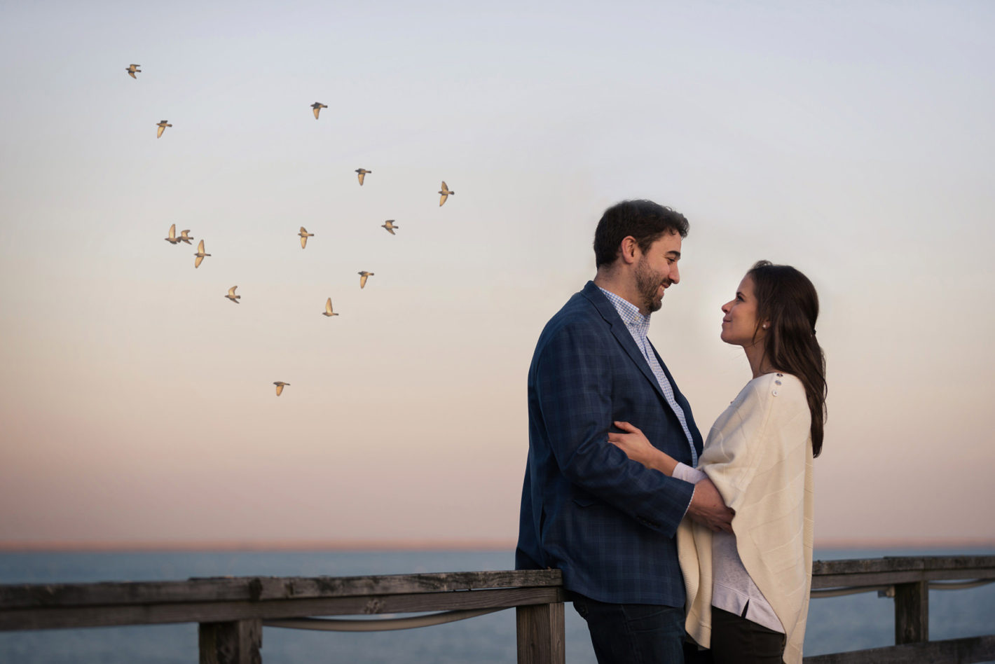 Almost in the shape of a heart... near Duxbury Beach with Danni and Scott during their engagement session.