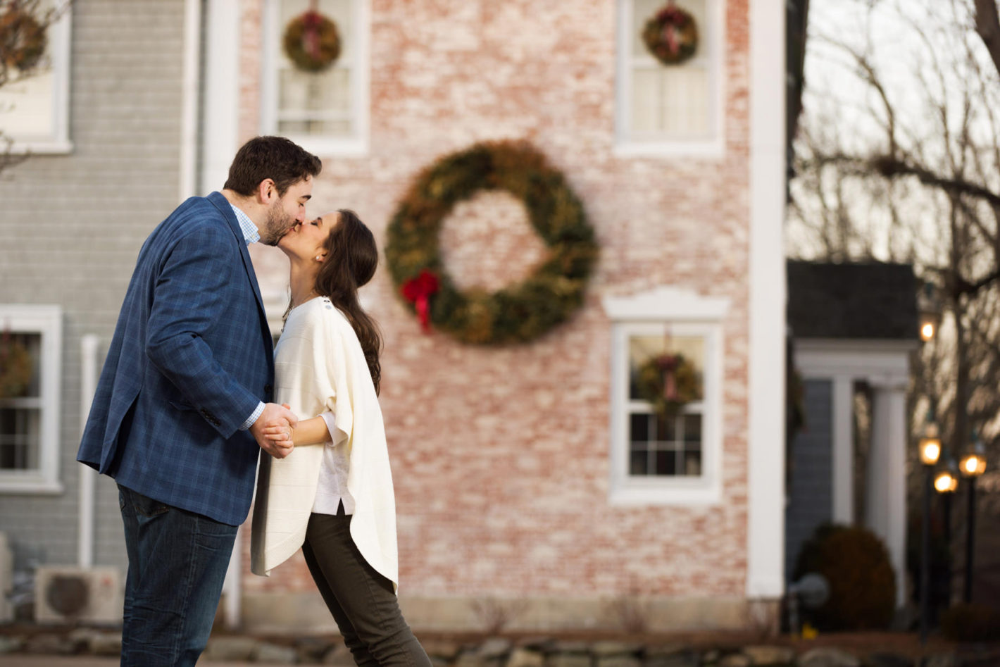 The old homes and buildings in the Duxbury Beach area are so beautiful. It was the perfect place to finish their engagement session.