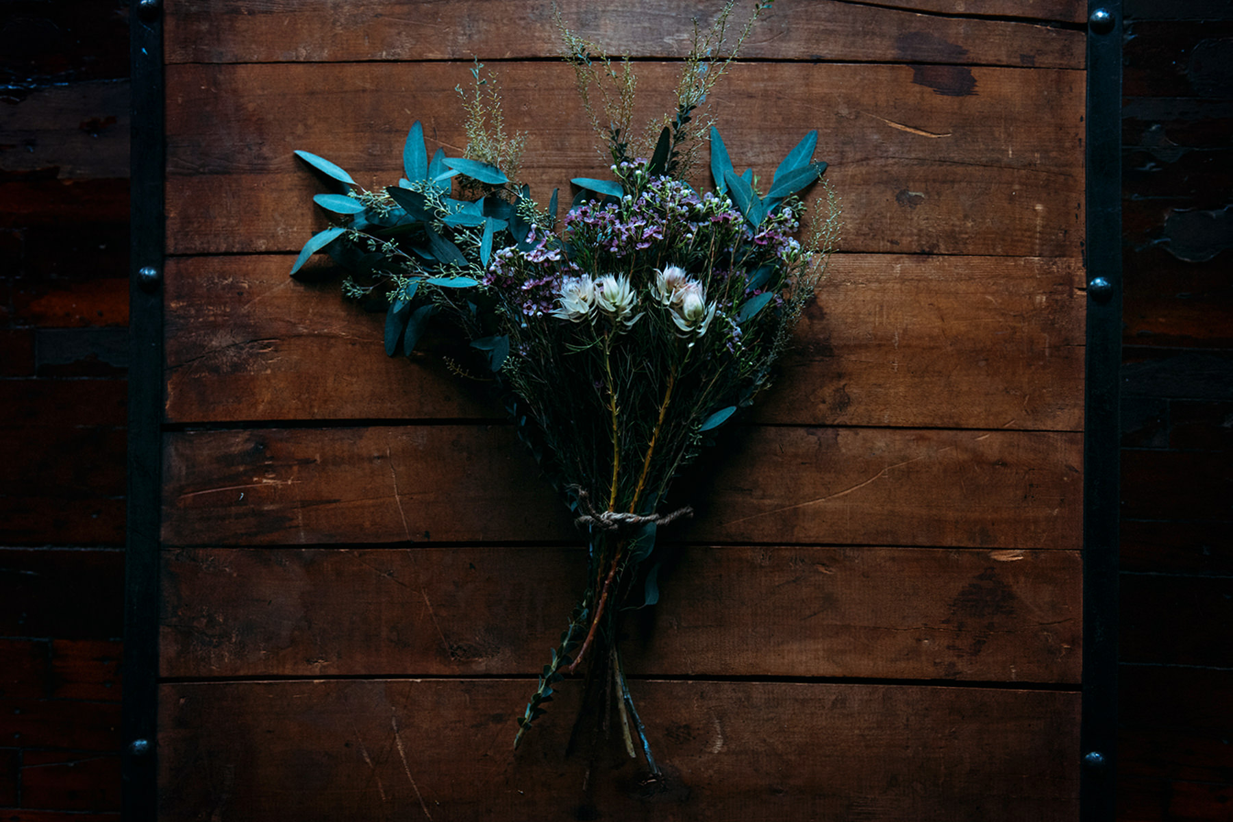 Maine Wedding Flowers - Protea, waxflower, acacia