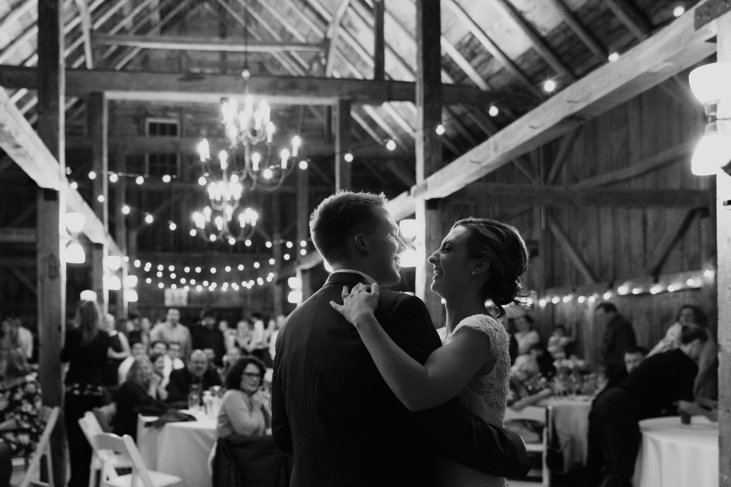 Ed and Jennifer dancing in the Barn at Walnut Hill